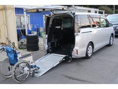 ヴォクシーX スロ−プタイプタイプ1車いす2脚仕様.スマ−トキ−2本.ケンウッドナビ.バックカメラ.左側パワ−スライドドア.プッシュスタ−ト