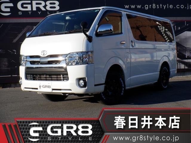 トヨタ スーパーGL ダークプライム 4WD/SDナビTV/Bluetooth/DVD再生/Bカメラ/ETC/新品16inAW/シートカバー/LEDヘッドライト/スマートキー/セーフティセンス/新品ベッドキット/Wエアバック