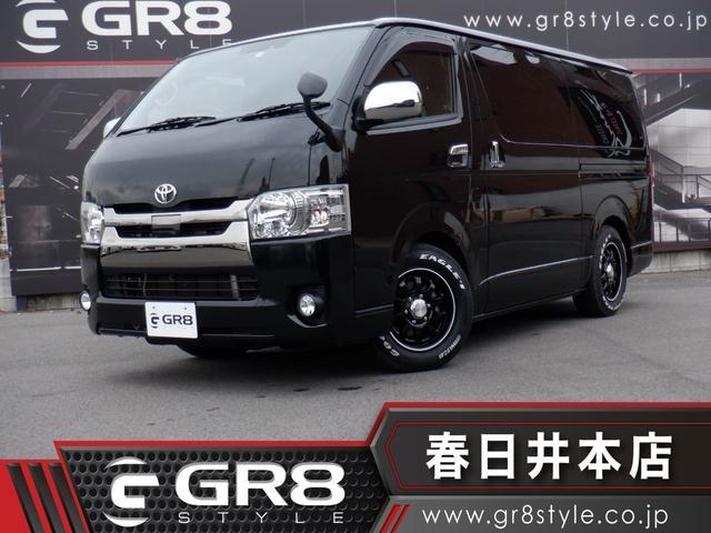 トヨタ スーパーGL ダークプライム 1オーナー/両側パワスラ/16inAW/LEDヘッド/セーフティセンス/VIPERセキュリティ/Bカメラ/スマートキー/ローダウンAC100V電源/Wエアバック