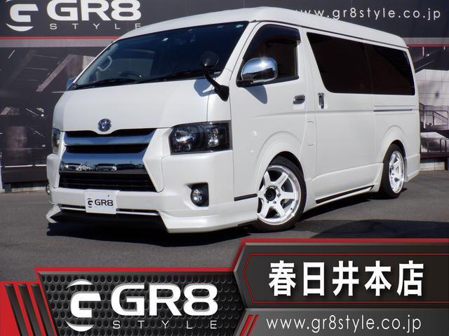 トヨタ ハイエースワゴン GL メモリナビTV/Bluetooth/DVD再生/バックカメラ/フリップダウンモニター/ETC/パワスラ/フルエアロ/18inAW/ベッドキット/ローダウン/スマートキー/LEDヘッド