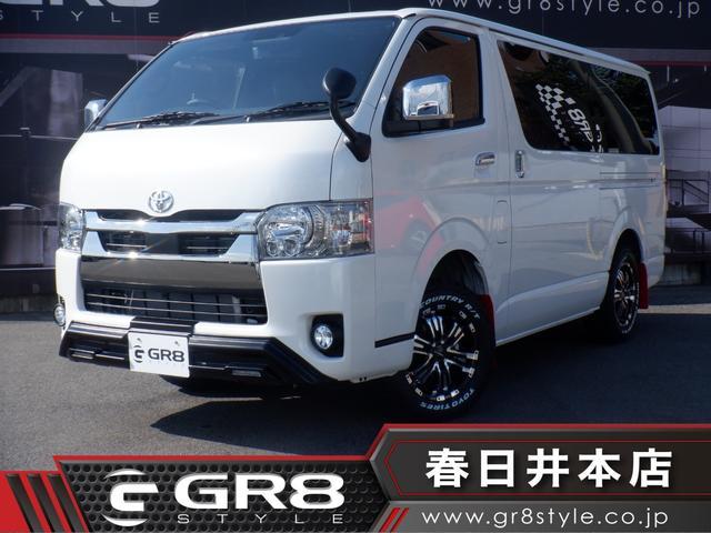 トヨタ スーパーGL ダークプライムII 登録済未使用車/4WD/デジタルインナーミラー/両側パワスラ/トヨタセーフティーセンス/LEDヘッドライト/AC100V電源/スマートキー