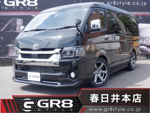 トヨタ スーパーGL ダークプライムII ワイド 6型/1オーナー/SDナビTV/Bluetooth/Bカメラ/パノラミックビューM/クリアランスソナー/Fリップスポイラー/新品18inAW/2inローダウン/ValentiLEDヘッドライト