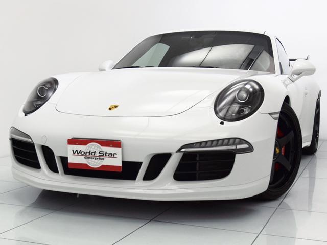 ポルシェ 911カレラGTS スポーツクロノPKG 20インチADVAN GT AW カーボンリアGTウィング パワークラフトマフラー HRダウンサス青スプリング BOSEサウンドシステム ブラックレザーアルカンターラハーフシート シートH