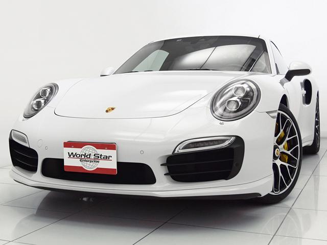 ポルシェ 911 911ターボS スポーツクロノPKG 15yモデル チルトスライド式電動サンルーフ カーボンドアシルガード エスプレッソナチュラルレザーインテリア アルミペダル フットレスト パワーステアリングプラス カーボンインテリアトリム PCCB