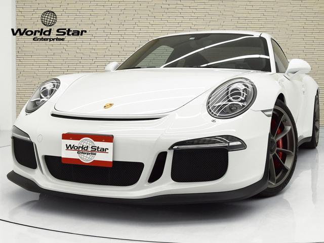 ポルシェ 911 911GT3 スポーツクロノPKG OP168 フロントリフトシステム アルカンターラレザーシート レザーインテリア レッドステッチ リバーシングカメラ アルミペダル シートH ホワイトカラーメーターパネル レッドキャリパー 禁煙車