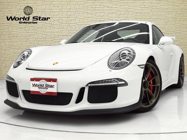 ポルシェ 911 911GT3 クラブスポーツPKG スポーツクロノPKG OP110 スポーツバケットシート リバーシングカメラ ペイントサイドスカート カラーメーターホワイト クラブスポーツPKG ブラックレザーアルカンターラハーフシート レッドキャリパー フロアマット
