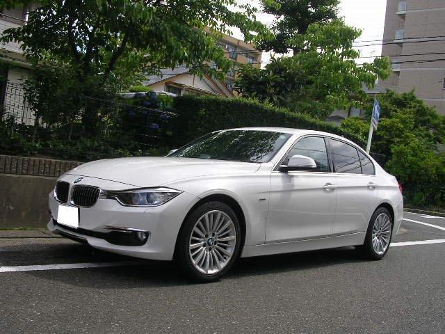 BMW 3シリーズ 328iラグジュアリー HDDナビ フルセグ地デジTV バックカメラ ETC スマートキー レザーシート シートヒーター 純正アルミホイール