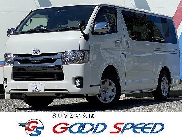 トヨタ スーパーGL ダークプライム SDナビTV バックカメラ 両側電動スライドドア 100V電源 LEDヘッド スマートキー 衝突軽減 ハーフレザーシート
