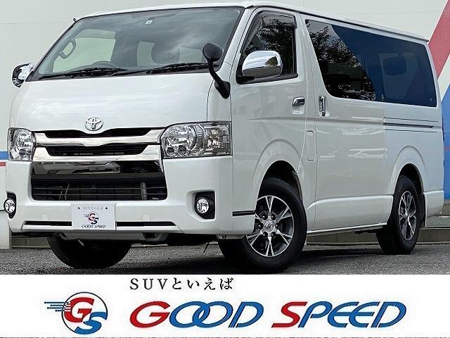 トヨタ スーパーGL ダークプライム SDナビTV バックカメラ ハーフレザーシート 100V電源 LEDヘッド スマートキー 助手席エアバック 両側スライドドア