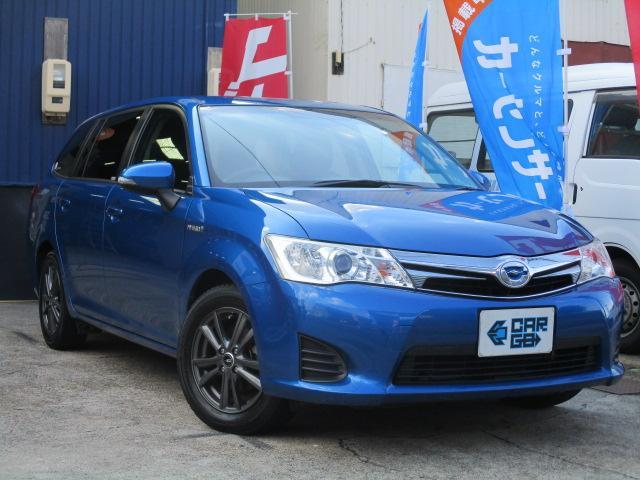 トヨタ カローラフィールダー ハイブリッドG Bluetooth対応SDナビ・ETC・PUSHスタート・スマートキー・シートヒーター・HIDヘッド