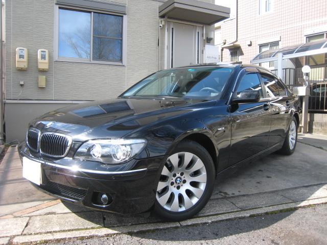 BMW 750i ミッション交換済 法人1オーナー 左ハンドル 黒革