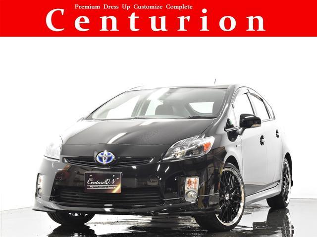 トヨタ プリウス S HDDナビ Bluetoothオーディオ バックカメラ ETC スマートキー 新品19インチタイヤホイール 新品フルエアロ 新品インナーブラックヘッドライト 新品LEDスモークテール 禁煙ワンオーナー