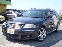 VW パサートワゴンW8 4モーション 4WD サンルーフ 黒革シート 純正ナビ