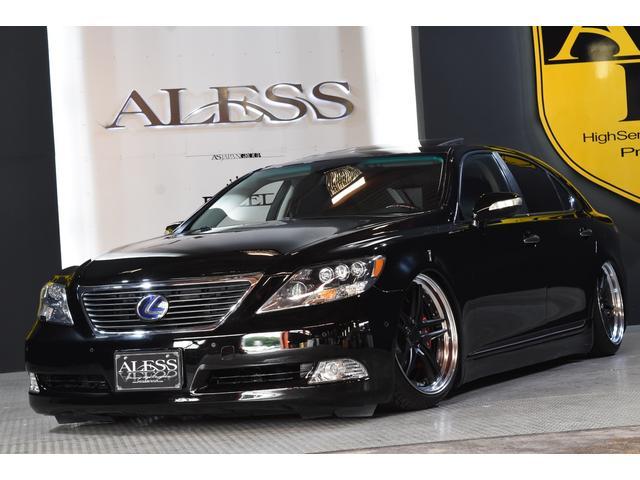 レクサス LS460L 左ハン 黒革 SR 車高調 新品WORK20