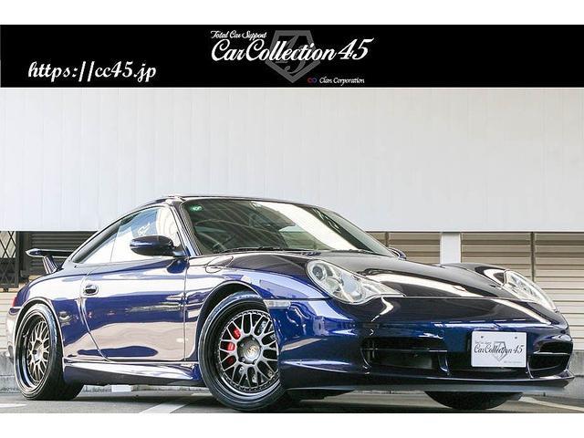 ポルシェ 911カレラ4 正規D車 後期モデル ラピスブルー色 GT3カップエアロキット/リアウイング デジテックECUチューニング 18インチAW レッドキャリパー ダークブルーレザーインテリア バックカメラ サンルーフ