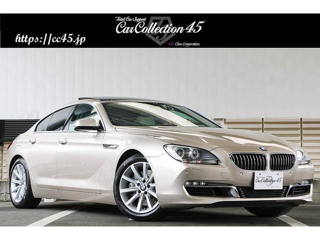 """BMW 6シリーズ 640iグランクーペ 有償カラー""""オリオンシルバーメタリック"""" アイボリー・ホワイトレザーインテリア サンルーフ コンフォートアクセス シートヒーター パドルシフト Bluetooth/フルセグTV/USB/バックカメラ"""