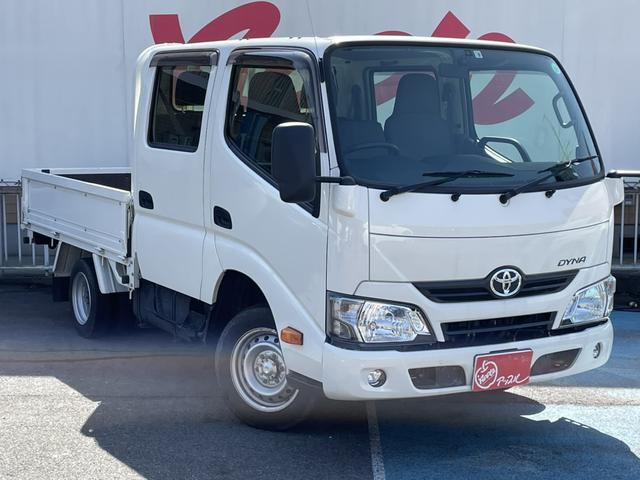 トヨタ ダイナトラック Wキャブロングジャストロー ダブルキャブ ワンオーナー フルセグ付きメモリーナビ 電動格納ミラー フォグランプ ドライブレコーダ ETC2.0
