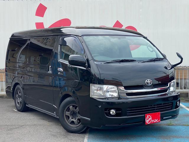 トヨタ レジアスエースバン ロングワイドスーパーGL 1年保証付 コンビハンドル メモリーナビ ベッドキット ワイドボディ バックカメラ 障害物センサー 100V電源 ETC