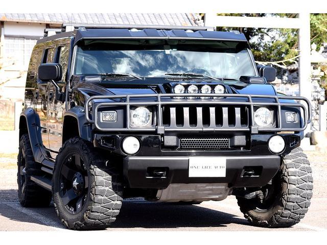 ハマー  4WD 2005年モデル 三井物産正規ディーラー車 HDDナビ 20インチAW BOSEサウンド 純正バネサス車