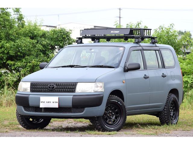 トヨタ DXコンフォートパッケージ リフトアップ マッドタイヤ 15インチホイール 艶消しペイント ルーフラック