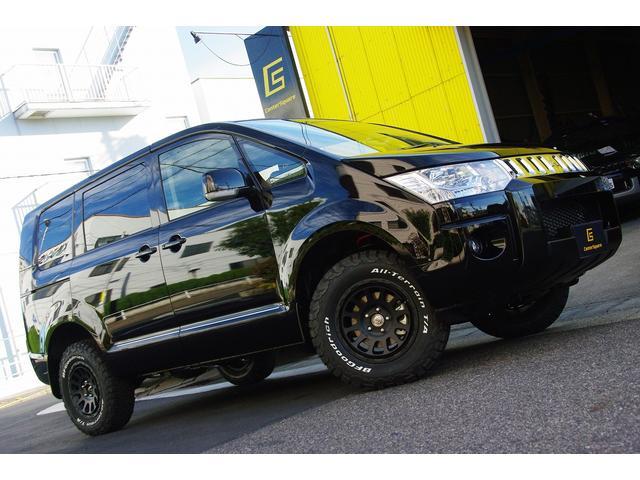 三菱 Dパワー4WD1インチUPフリップダウン新品アルミセット