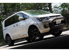 デリカD:5D パワーパッケージ Dパワー4WD センタースクエアナゴヤオリジナルデモカー リア減衰力調整機能付1インチアップ カスタム多数