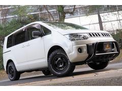 デリカD:5Gパワーパッケージ 4WD/オリジナルチッピング塗装/新品アルミ&タイヤ/フロントガード/ドラレコ/後席フリップダウンモニター/8インチナビ/ビルトインETC/両側パワースライドドア/サブウーハー/7人乗り/スペアキー