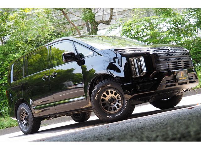 GパワーPKG4WD 登録済み未使用車/新品デルタスモーク16インチ/新品BFグッドリッチホワイトレター/CS758マットBKスタイル/純正10.1型ナビアラウンドビューモニター/Pバックドア/Pシート/シートヒーター