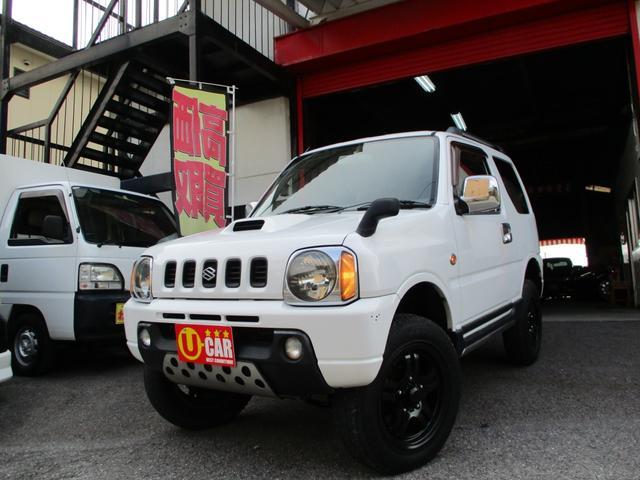 スズキ ジムニー XC 4WD ターボ リフトアップ ルーフレール  キセノンフォグ メッキーパーツ タイミングチェーン
