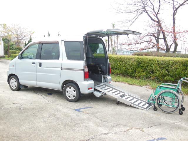 ダイハツ CXスローパー 福祉車両リアヒーター電動巻上 電動固定装置付