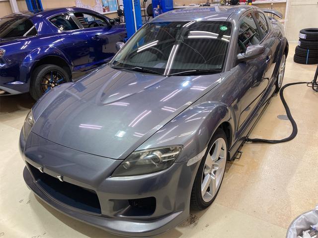 マツダ RX-8 タイプS 6速マニュアル車 マツダスピードサイドリアスポ フルエアロ HIDヘッドライト CD パワステ ABS 電動格納ミラー キーレス