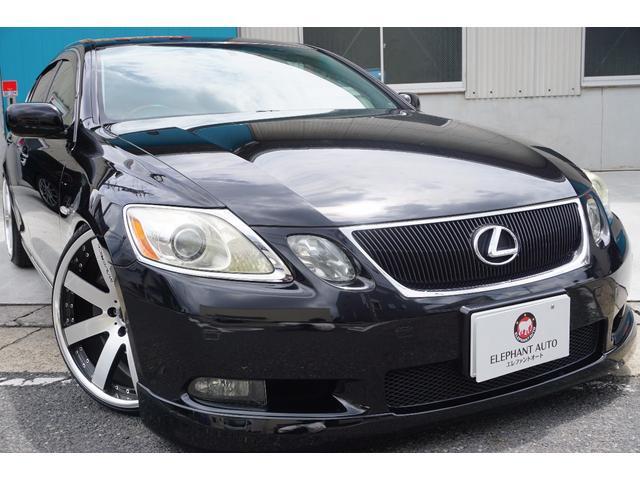 レクサス GS430 買取車禁煙車サンルーフ黒革純正ナビ車高調Bカメ