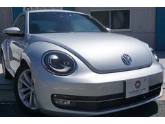 VW ザ・ビートルデザインレザーパッケージ 黒革シート社外ナビバックカメラ