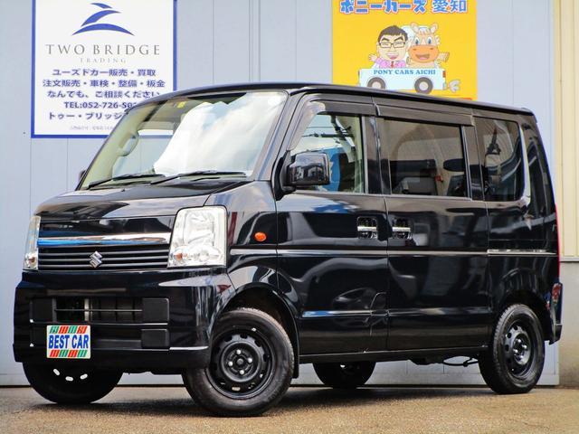 スズキ エブリイワゴン JP 5速MT 5速マニュアル ETC付き キーレス CD付 ABS付 走行3.6万Km