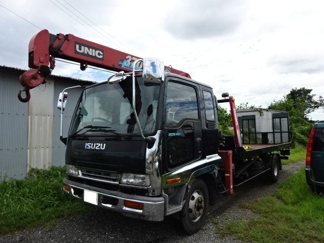 3段クレーン UNIC UR370 ラジコン付 積載車UNIC UC45ラジコン付