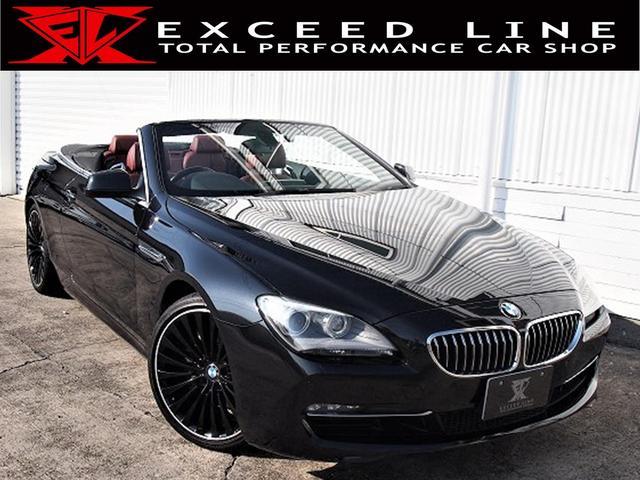 BMW 6シリーズ 640iカブリオレ HDD 地デジ Bモニ ETC ドライブレコーダー クルコン 障害物センサー 赤革シート 電動シート シートヒーター 社外20AW 正規D車