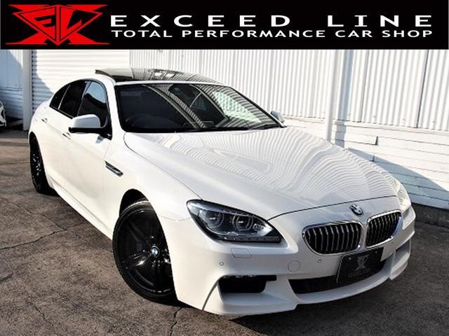 BMW 6シリーズ 640iグランクーペ Mスポーツパッケージ HDD 地デジ Bモニ クルコン パドルシフト ハーフレザー 電動シート シートヒーターサンルーフ M専用ブラックペイント19AW 障害物センサー リアスモーク Pスタート 正規D車