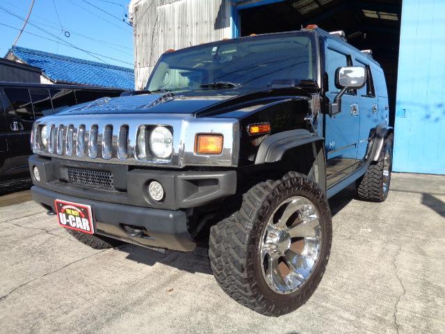 ハマー 4WD 1ナンバー MKW22AW 社外マフラー ナビ