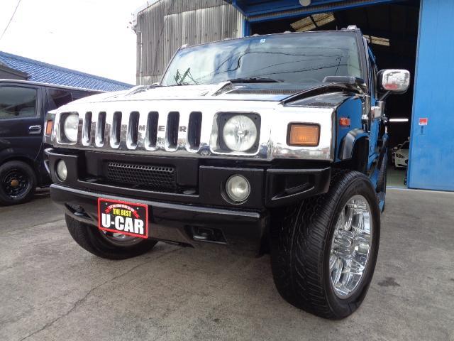ハマー ハマーH2  4WD 1ナンバー サンルーフ 22インチアルミ サイドステップ バネサス