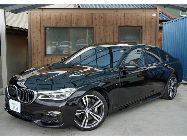 BMW 7シリーズ 750i Mスポーツ 法人ワンオーナー ハーマンカードン インテリジェントセーフティ サラウンドビュー ディスプレイキー LEDライト ブラックレザーシート ベンチレーション 純正ナビ フルセグTV パワートランク