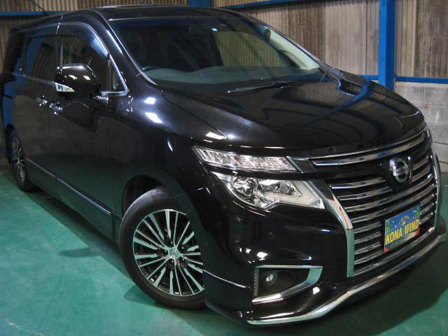 日産 VIP 4WD踏違防止レダクルWTV黒革SR電動ステップ寒冷