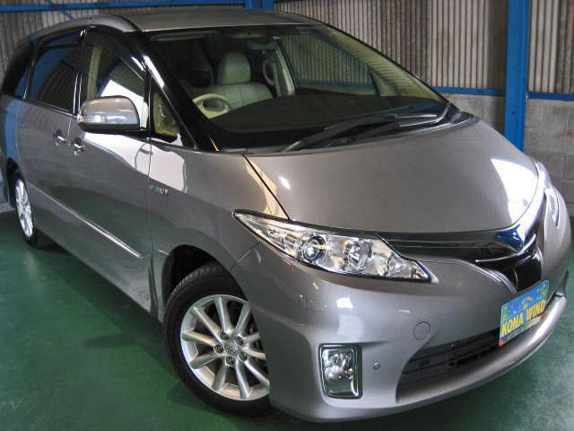 トヨタ エスティマハイブリッド G 4WDプリクラLKAレダクル本革パノラビュCソナPBドア