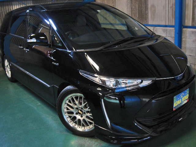 トヨタ エスティマハイブリッド アエラス スマート 4WD プリクラ革WTV寒冷地PBドア