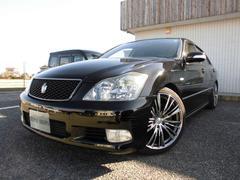 クラウンアスリート3.5 黒革 社外19インチ 車高調 色替車