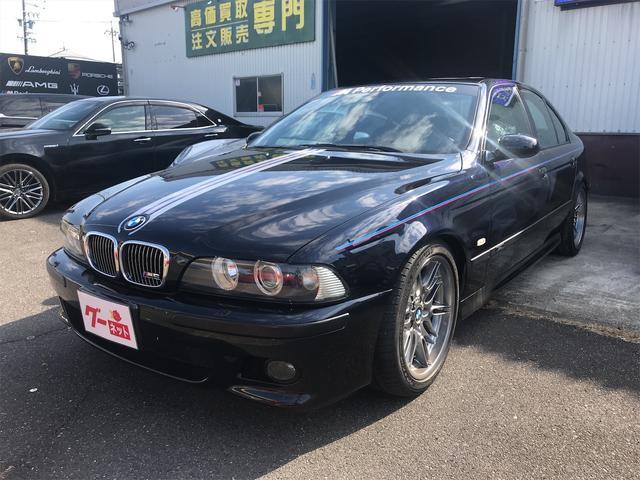 BMW M5 アイゼンマンマフラー KONIショック グループM エアクリーナー インダッシュHDDパイオニアナビ バックカメラ サンルーフ 本革シート