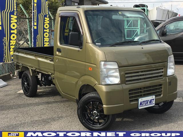 マツダ スクラムトラック KCスペシャル 全塗装済み リフトアップ 5MT 社外ステアリング サイドバイザー
