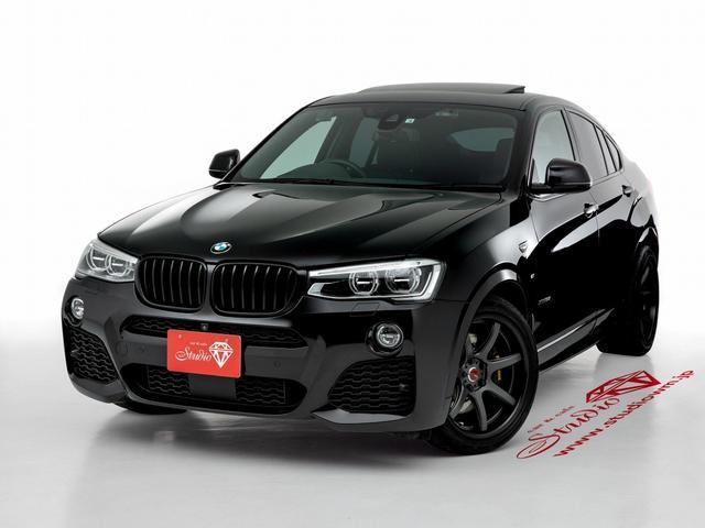 BMW X4 xDrive 35i Mスポーツ 禁煙車 フルタイム4WD HYRワンオフ車高調 ワンオフ19インチホイール APRACINGブレーキキット ETONスピーカー ワンオフカーマット LEDライト交換済み ドライブレコーダー前後