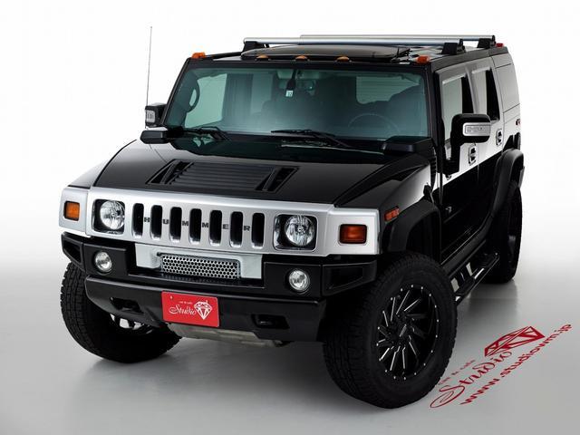 ハマー ハマーH2 タイプG ラグジュアリーPKG 4WD 1ナンバー 5人乗り サンルーフ ホイール・タイヤ新品交換済 ブラックレザーシート シートヒーター BOSEサラウンドシステム 後席モニター 20インチAW
