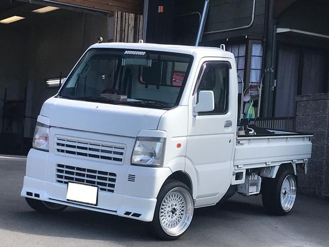 マツダ KCエアコン・パワステ 5速マニュアル 社外15AW 軽トラ