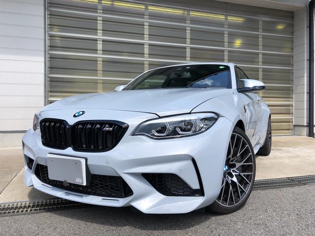 BMW M2 コンペティション ホッケンハイムシルバー/ハーマンカードン/LEDヘッド/ミラーETC/禁煙車/バックカメラ/衝突被害軽減システム/クリアランスソナー/衝突安全ボディナビ/キーレス/スマートキー/展示車試乗車/ターボ
